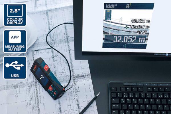 Bosch PLR 30 C Medidor de distancias l/áser digital 2 pilas AAA, alcance: 0,05-30 m, en cart/ón