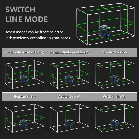 metro laser verde