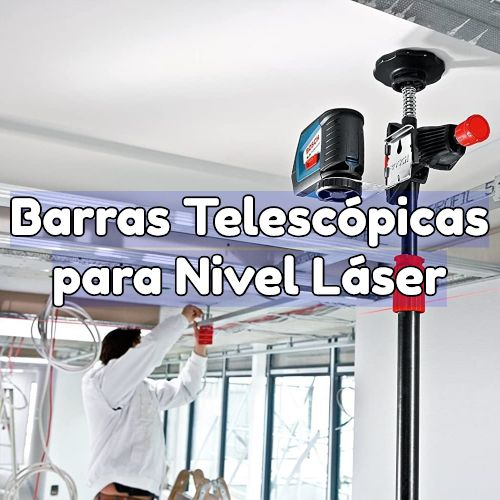 barra telescopica para nivel laser